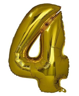 Smartcraft Foil Balloon Number 4 Shape - Golden