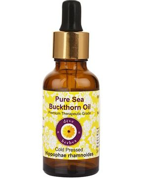 Deve Herbes Pure Sea Buckthorn Oil With Glass Dropper - 15 ml