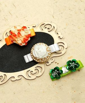 D'chica A Cute Combo Of Indian Colors Hair Accessories - Multicolor