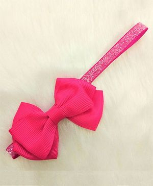 Magic Needles Pretty Headband With A Tiny Bow - Dark Pink