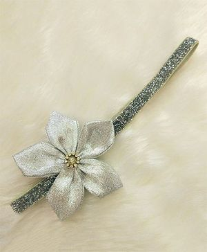 Magic Needles Pretty Headband With A Flower - Silver