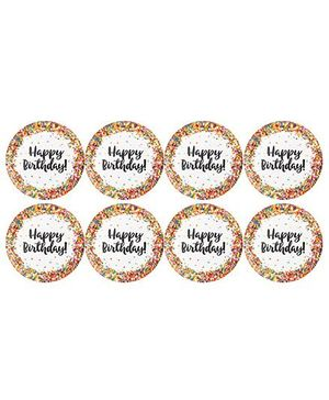 Celebration Essentials Paper Plate Happy Birthday Printed Pack of 8 - Multi Color