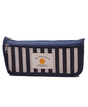 Kidofash Double Chain Striped Pouch - Blue
