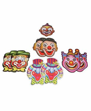 B Vishal Paper Joker Face Masks Pack of 10 (Design May Vary)
