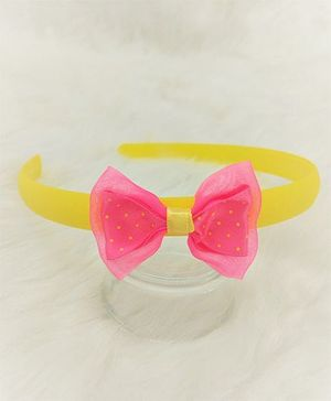 Magic Needles Hairband With Bow - Yellow