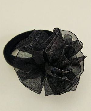 Magic Needles Net Flower Elastic Ponytie - Black
