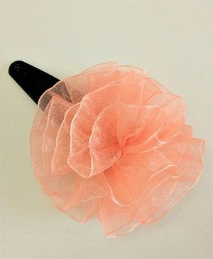 Magic Needles Net Flower Tic Tac Clips - Peach