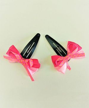 Magic Needles Tic Tac Clips Big Bows & Ribbons - Pink