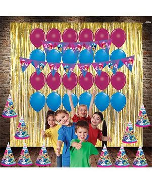 Party Propz Birthday Decoration Set Blue & Pink - 38 pieces