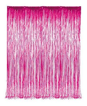 Party Propz Decorative Metallic Curtain Pack Of 1 - Pink