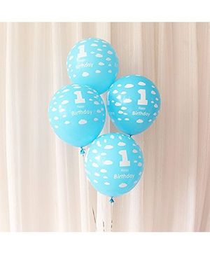 Party Propz Balloons 1st Birthday Print Blue - 25 Pieces