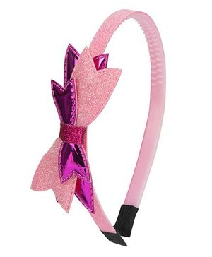 Daizy Shimmer Bow Hair Band - Pink