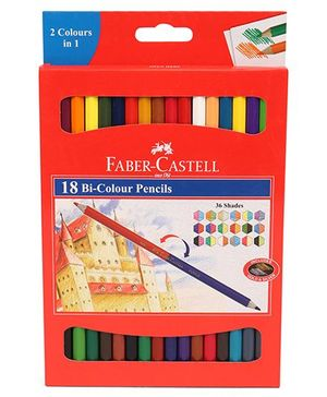Faber Castell 18 Bi Colour Pencils - 36 Shades