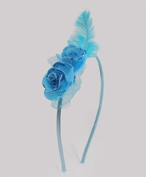 Tia Hair Accessories Beautiful Hairband With Feather - Blue