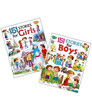 Sawan 151 Stories For Boys & Girls Set of 2 Books - English