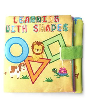 2 Footya Learning With Shapes Cloth Story Book - Yellow
