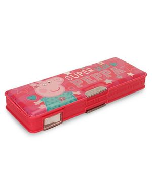 Peppa pig Super Star Magnetic Pencil Box - Pink