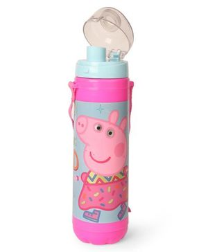 Peppa Pig Sleek Sipper Water Bottle With Flip Open Lid Pink - 700 ml