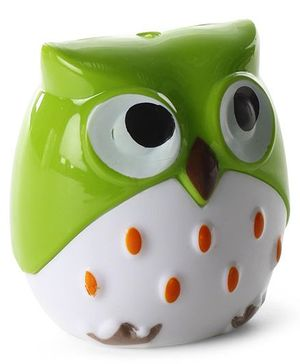 Owl Shaped Pencil Sharpener - Green