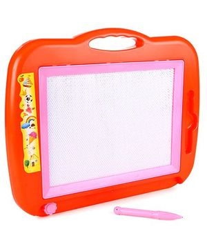 Writing Board With Pen Rectangular Shape - Red