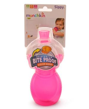 Munchkin Click Lock Bite Proof Sippy Cup Pink - 266 ml