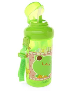 Water Bottle Frog Print Green - 350 ml