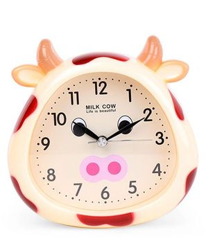 Cow Face Shape Clock - Cream