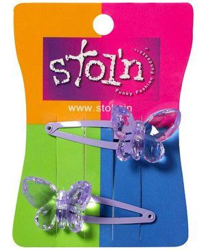 Stol'n - Purple Butterfly Snap Clips