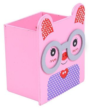 Kitty Design Pencil Stand - Pink