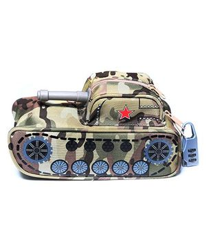 Baby Oddles Military Tank Shape 3D Storage Kit - Beige & Green