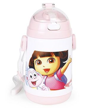 Dora Sipper Water Bottle Pink - 400 ml