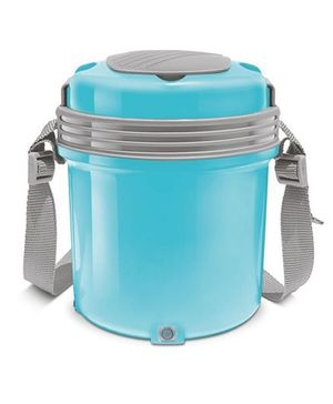 Milton Electron Electric Lunch Pack With 3 Stainless Steel Container Blue - 360 ml Each