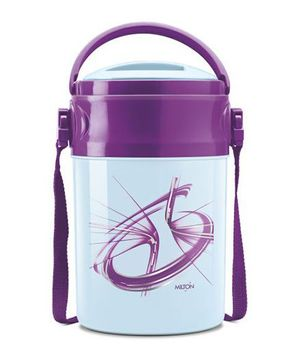 Milton Odyssey Deluxe Airtight Insulated Lunch Box With 4 Steel Containers - Purple