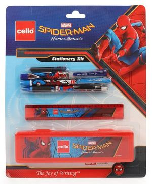 Cello Spider Man Stationery Kit Set of 6 - Red