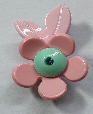 Sugarcart Flower With Leaves Clip - Pink