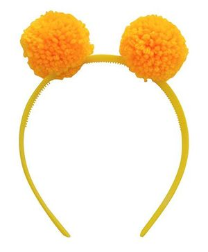 Magic Needles Hairband Pompom Ears -  Yellow