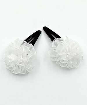 Magic Needles Tic Tac Hair Clips - White
