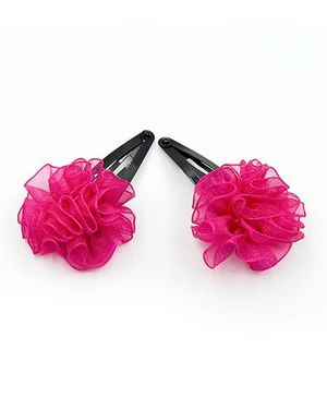 Magic Needles Tic Tac Hair Clips - Dark Pink