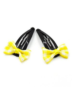 Magic Needles Bow Tic Tac Hair Clips - Yellow