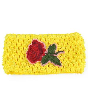 Tia Hair Accessories Alice Headband With Rose - Yellow