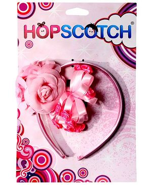Hopscotch - Pink Rose Hairband And Barrette