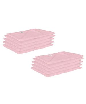 Lula Reusable Muslin Square Nappies Pack of 10 - Pink