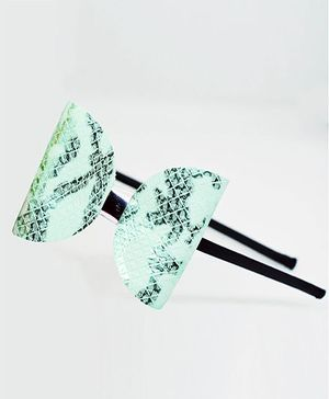 Little Tresses Texture Bow Metallic Headband - Mint Green