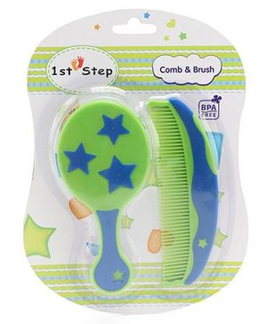1st Step Comb And Brush - Royal Blue Green