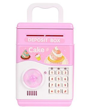 Planet of Toys Electronic Money Bank Cup Cake Print - Pink