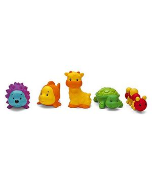 Infantino Sensory Pals Baby Bath Toys Pack of 5 - Multicolour