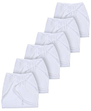 Babyhug  Cloth Nappy String Tie Up Large - Set Of 6