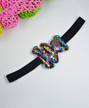 Little Miss Cuttie Sequin Teddy Headband - Multicolour