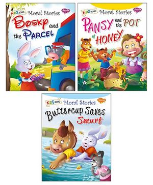 Sawan Kids Board Moral Story Book Pack of 3 - English