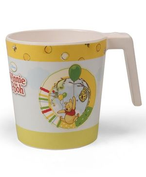 Winnie The Pooh Large Coffee Mug Off White Yellow - 320 ml